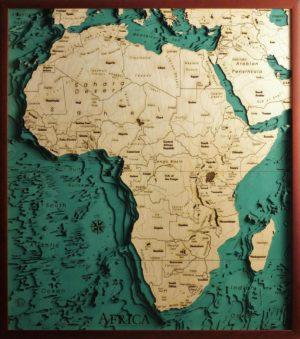 foto di: Mappe topografiche in legno