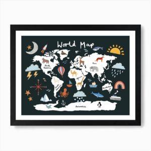 foto di: World Map Art Print